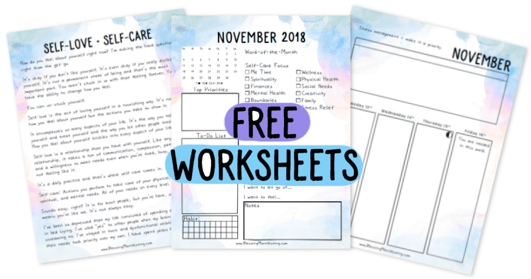 Free November Self-Love Planner & Check-In