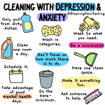 cleaning with depression