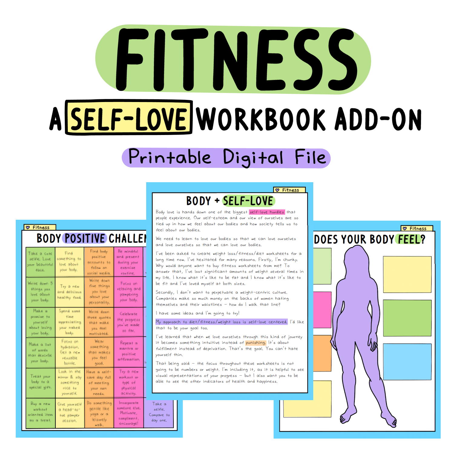 fitness worksheets